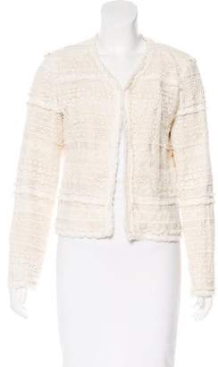 Truth and Pride Structured Lace-Paneled Jacket