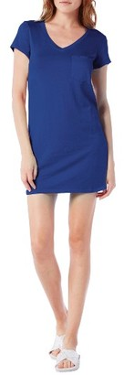 Petite Women's Michael Stars V-Neck Jersey Minidress $88 thestylecure.com