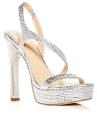 Vince Camuto Imagine Women's Prent Croc Embossed Leather Slingback High-Heel Platform Sandals