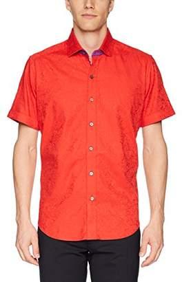 Robert Graham Men's Abbott Short Sleeve Slim Fit Shirt