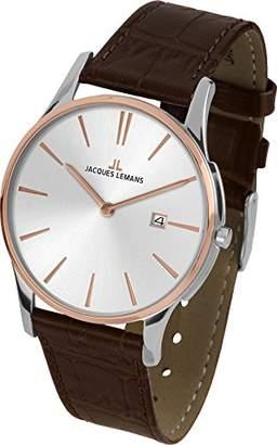 Jacques Lemans Women's Multi dial Quartz Watch with Leather Strap 1-1937F