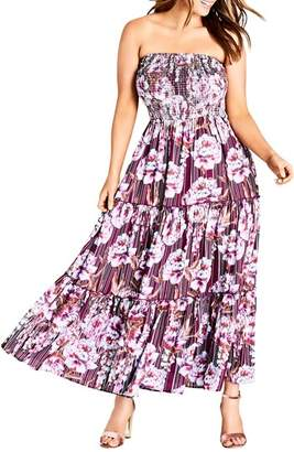 City Chic Arthouse Floral Maxi Dress