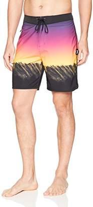 "Hurley Men's Phantom Stretch Printed 18"" Scallop Hem Boardshort Swim Short"