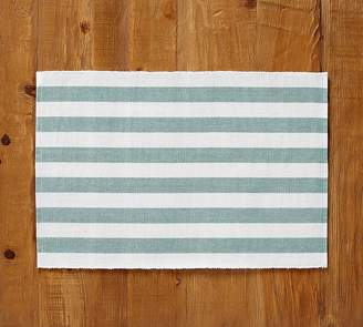 Pottery Barn Raney Bold Stripe Placemat, Set of 4 - Yellow