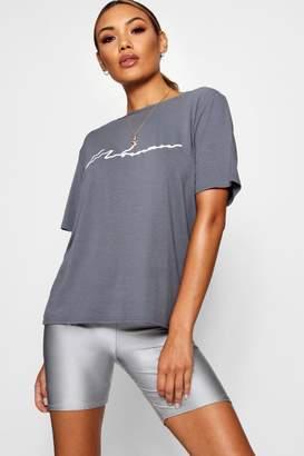 boohoo Katy Oversized Woman T Shirt