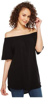Allen Allen Short Sleeve off the Shoulder Top Women's Clothing