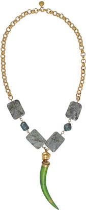 Devon Leigh Green Tusk Pendant Necklace