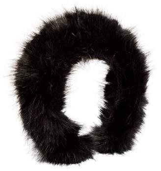 Shrimps Melete Faux Fur Headband - Womens - Black