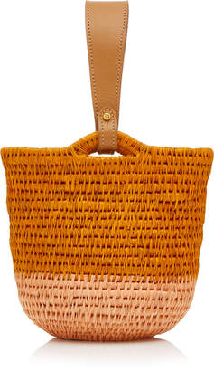 Khokho Zandi Leather-Trimmed Straw Bucket Bag