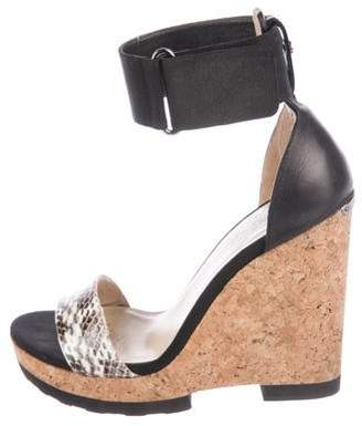 Jimmy Choo Snakeskin Wedge Sandals