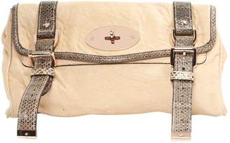 Mulberry Beige Leather Clutch Bag