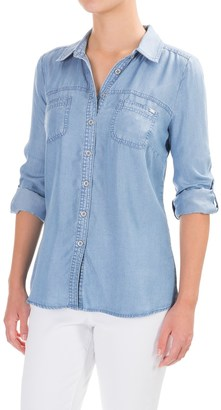 FDJ French Dressing TENCEL® Shirt - Roll-Up Long Sleeve (For Women) $19.99 thestylecure.com