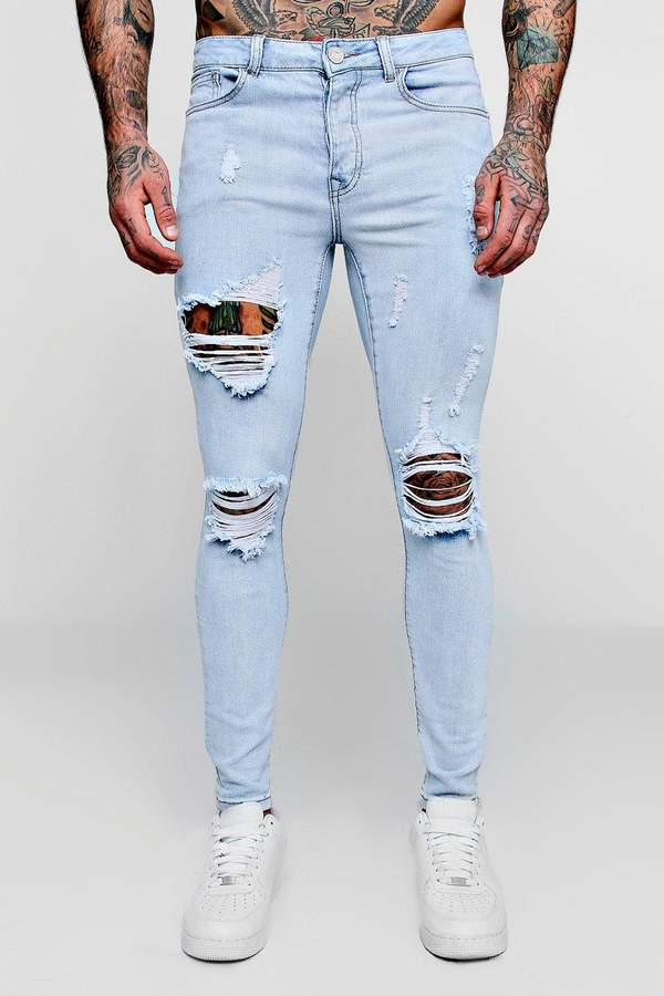Super Skinny Jeans With Distressing