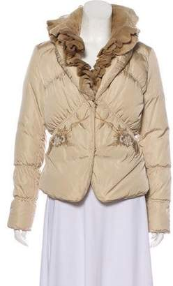 Blumarine Fur-Trimmed Down Jacket