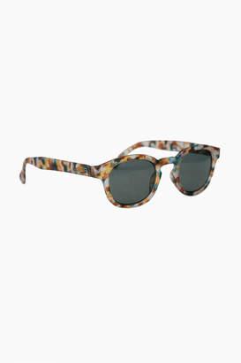 IZIPIZI Blue Tortoise Sunglasses #C with Soft Grey Lenses
