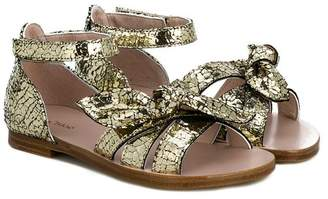 Chloé Kids bow embellished sandals