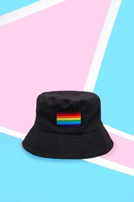 d326b91a802 boohoo Pride Bucket Hat With Rainbow Flag Embroidery