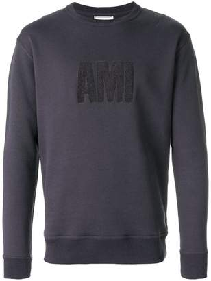 Ami Alexandre Mattiussi crewneck sweatshirt big Ami embroidered patch