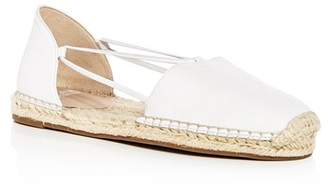 Eileen Fisher Women's Lee Washed Leather d'Orsay Espadrille Flats