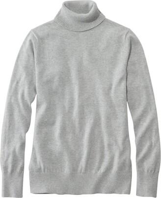 L.L. Bean L.L.Bean Women's Cotton/Cashmere Sweater, Turtleneck