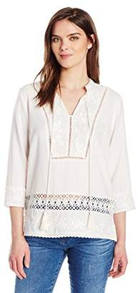 Plenty by Tracy Reese Women's Kurta Top Embroidered