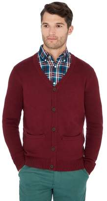 Maine New England - Dark Red Knitted Cotton Cardigan