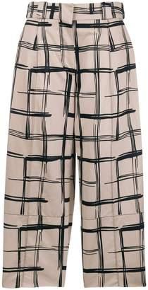 Marni check print trousers