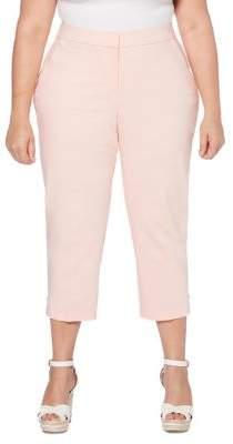 Rafaella Plus Cropped Slim-Leg Trousers