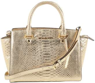 Michael Kors Metallic Leather Handbag