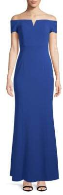 Calvin Klein Off-The-Shoulder Evening Gown