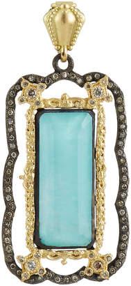 Armenta Old World Green Turquoise & Diamond Enhancer