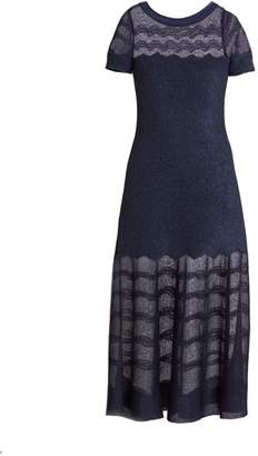 Alaia Cotillon Fit-&-Flare Boatneck Dress