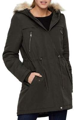 Vero Moda Breeze Agnes Faux Fur-Trimmed Parka