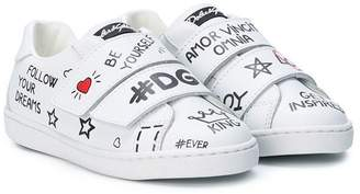 Dolce & Gabbana graffiti touch strap sneakers