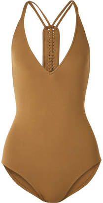 Eres Close Up Mirella Braid-trimmed Swimsuit - Tan