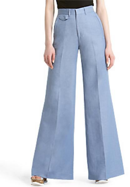 18th Amendment Crawford High-Waist Flare Pants, Bluebird Wash