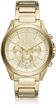 Armani Exchange Drexler Gold Dial With Gold Tone Stainless Steel Men's Chronograph Watch
