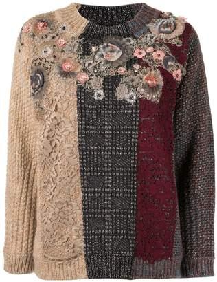 Antonio Marras lace-panelled jumper