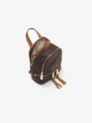 0e0e2c3bd40d ... new style at michael kors michael michael kors rhea mini logo backpack  c872f 2adef