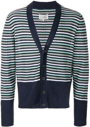 Maison Margiela V-neck striped cardigan