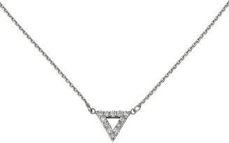 Dainty Designs 14K 1/2 cttw Diamond Medium Triangle Necklace