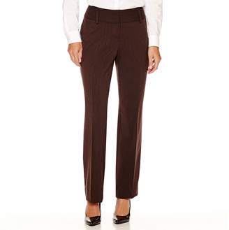 WORTHINGTON Worthington Curvy Fit Straight Leg Pants