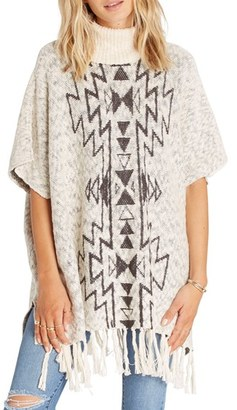 Billabong Homeward Bound Knit Turtleneck Poncho $79.95 thestylecure.com