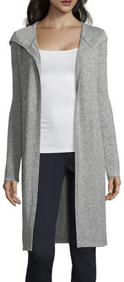 BY AND BY by&by Long Sleeve Hooded Neck Jersey Blouse-Juniors