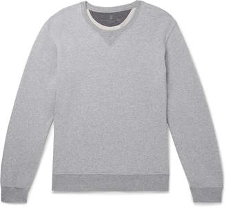 Brunello Cucinelli Melange Loopback Cotton-Jersey Sweatshirt - Men - Gray