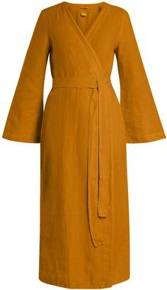 ONCE MILANO Bell-sleeved linen robe