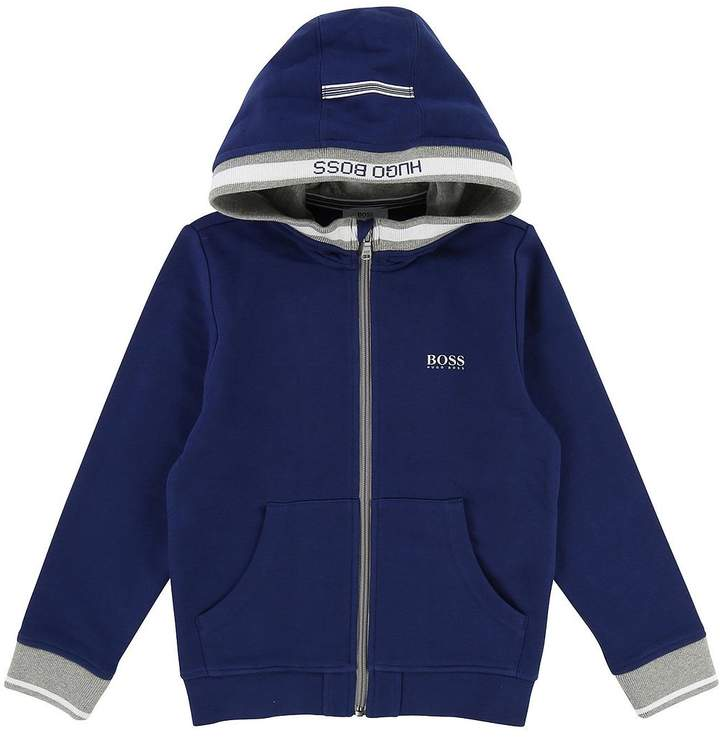 Boys Zip Through Hooded Tracksuit Jacket