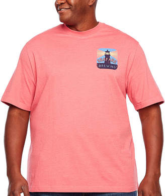 Izod Graphic Tees Mens Crew Neck Short Sleeve T-Shirt-Big and Tall