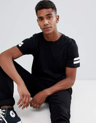 Jack and Jones Long Line Sports Stripe T-Shirt