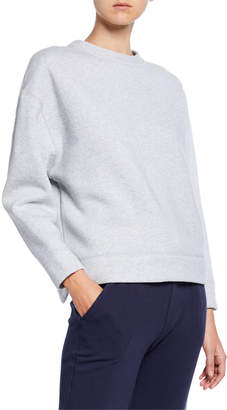 Vince Oversized Cotton Fleece Pullover
